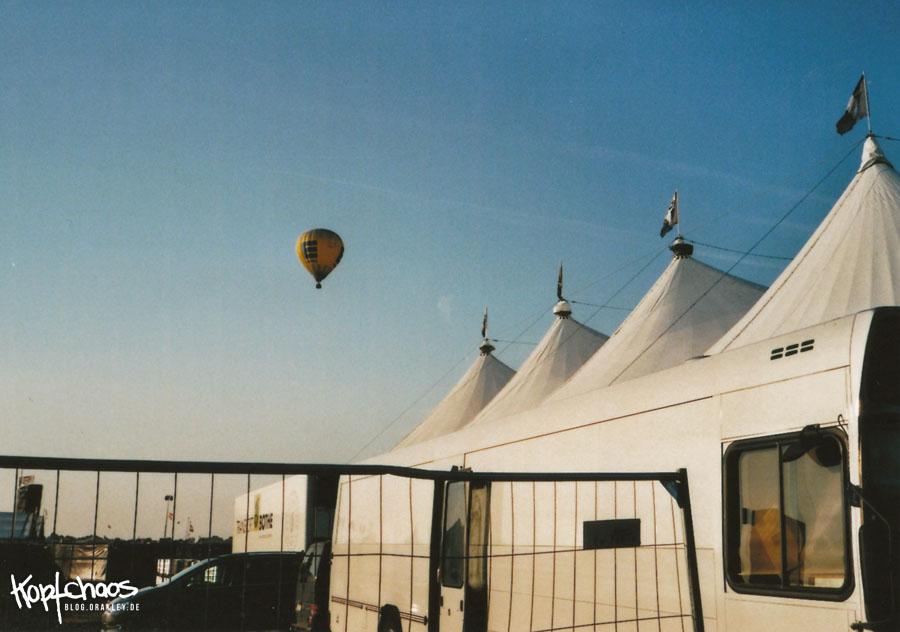 Heißluftballon über wacken