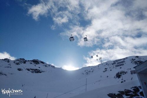 Sonne hinterm Berg in Silvretta Montafon